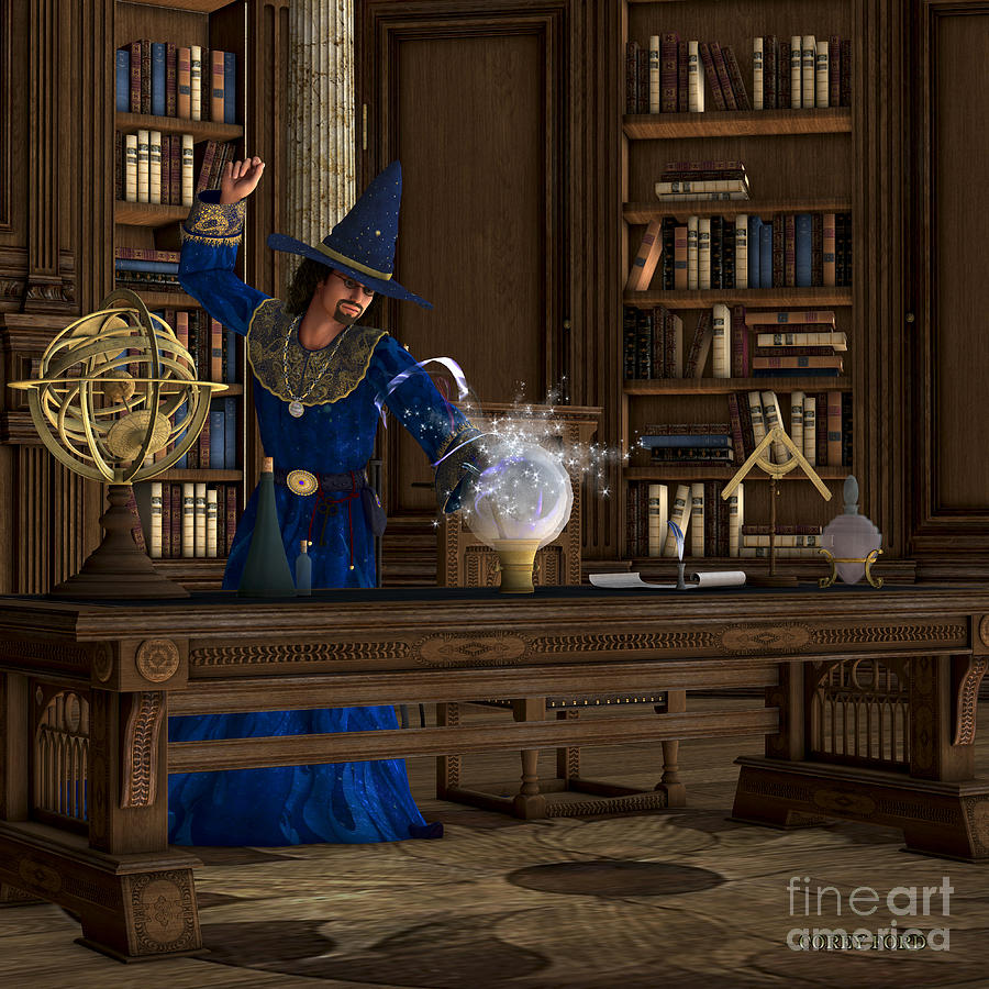 Witch Painting - Magician by Corey Ford