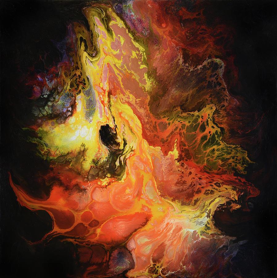 Abstract Painting - Magma by Dion Kurczek