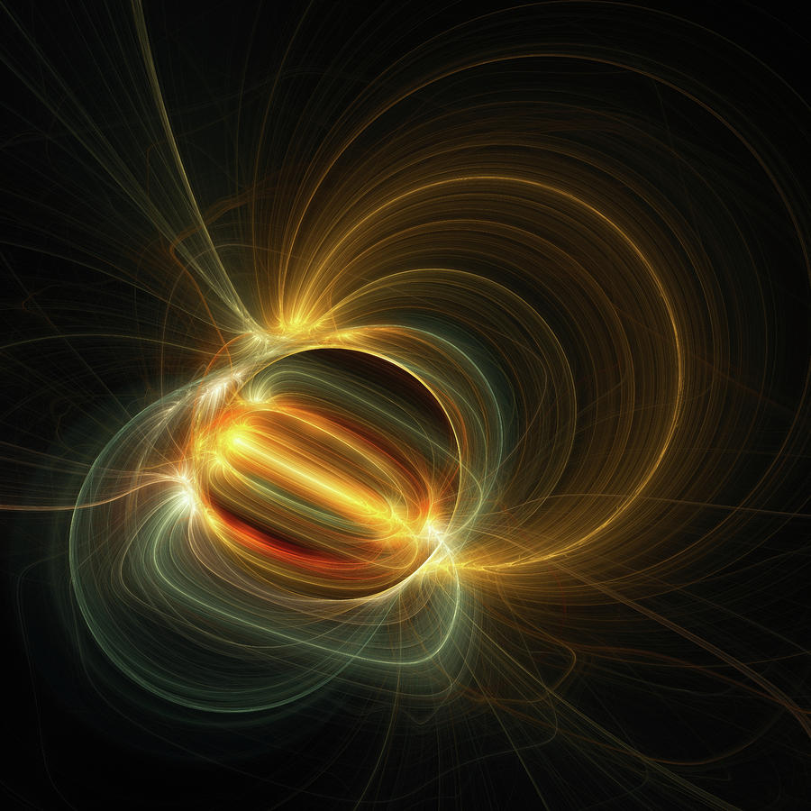 Magnetic Field Digital Art - Magnetic Field by Scott Norris