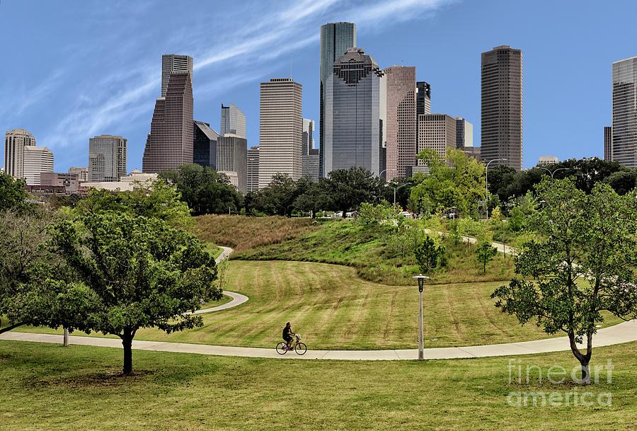 21st Century Photograph - Magnificent Houston Skyline by Norman Gabitzsch