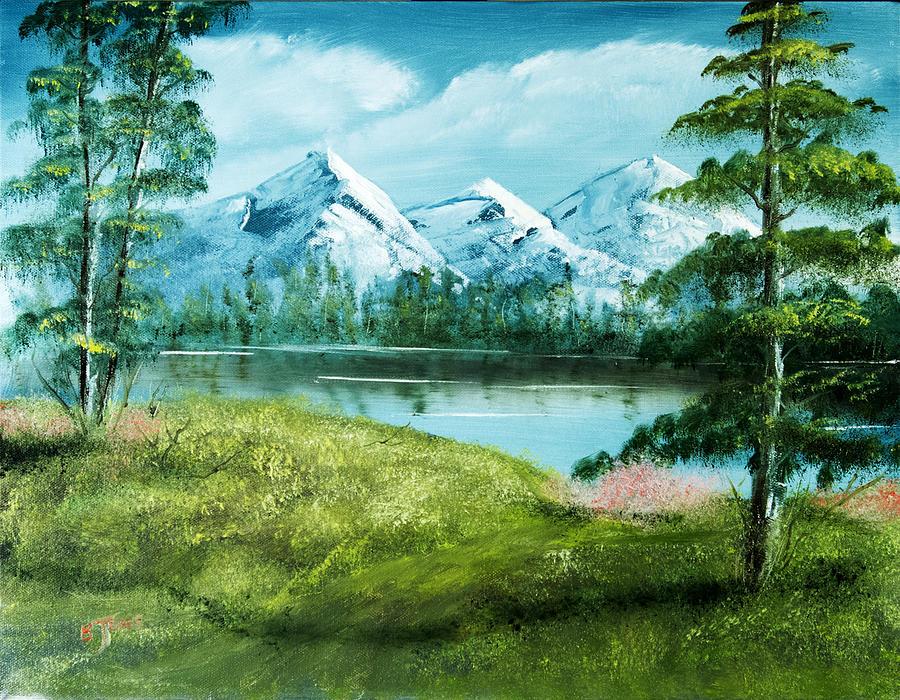 Mountain Landscape Painting - Magnificent Vista - Mountain Landscape by Barry Jones