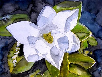 Magnolia Painting - Magnolia 2 Flower Art by Derek Mccrea