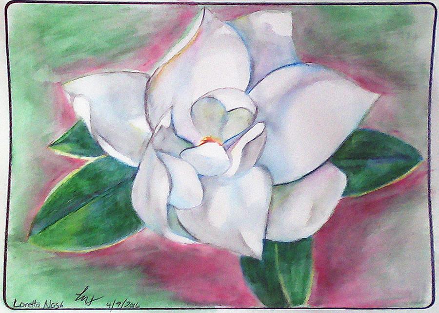 Magnolia Painting - Magnolia 2 by Loretta Nash