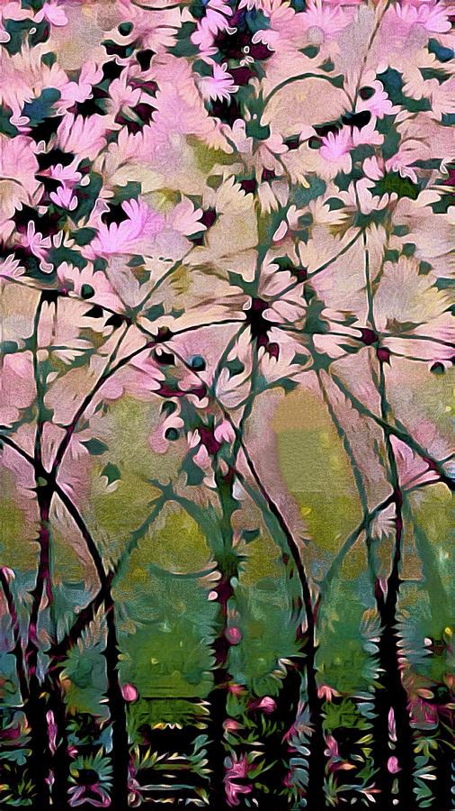 Magnolia Painting - Magnolia Art Nouveau by Susan Maxwell Schmidt