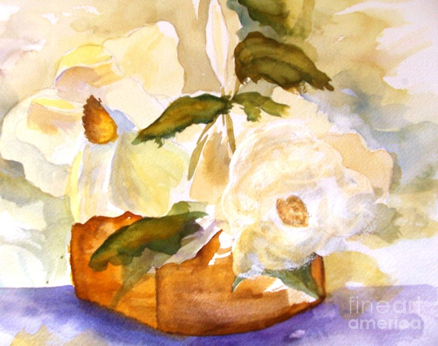 Magnolia Blossoms Painting by Sandi Stonebraker