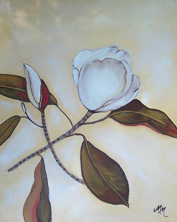 Flowers Painting - Magnolia Bud by Martha Mullins