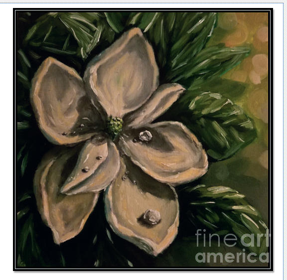 Magnolia Painting by Esmeralda Acupan