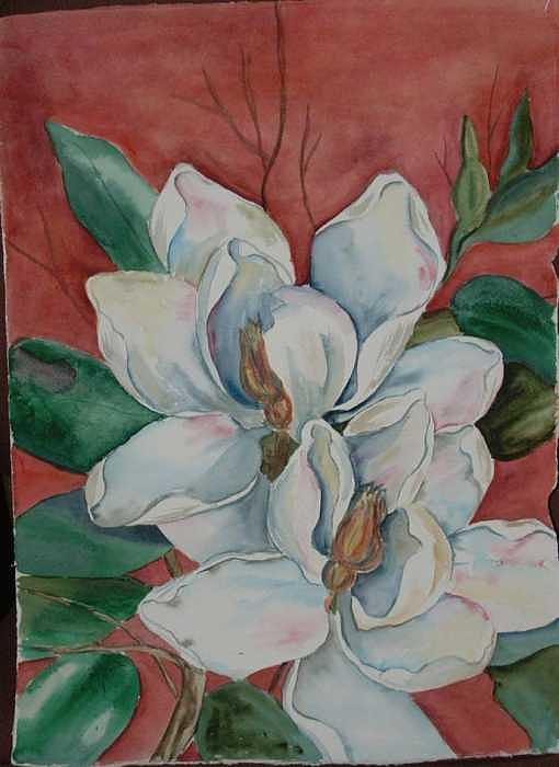 Watercolor Painting - Magnolia Five by Diane Ziemski