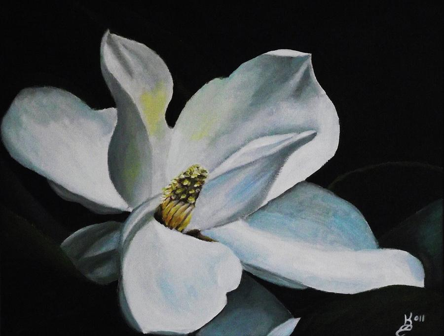 Magnolia Flower Painting By Kim Selig