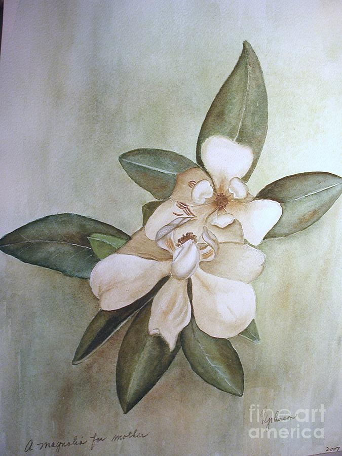 Magnolia For Mom Painting by Georgia Johnson