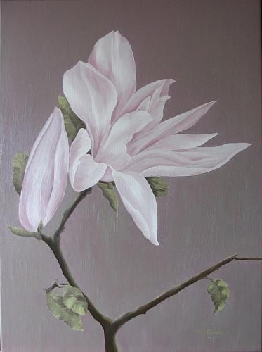 Flower Painting - Magnolia by Haike Espenhain