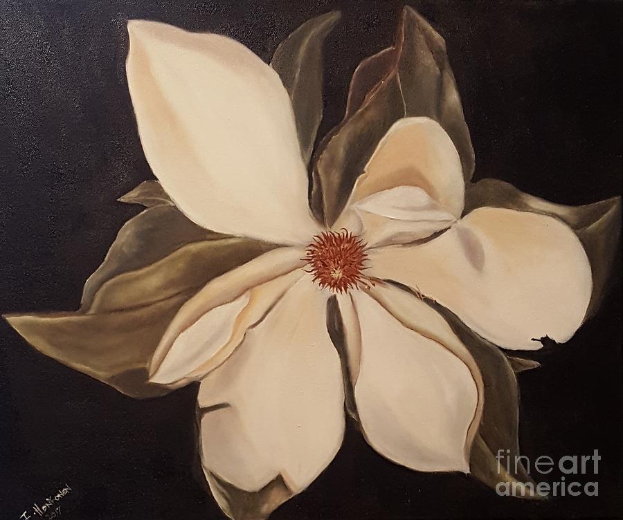 White Flower Painting - Magnolia by Isabel Honkonen