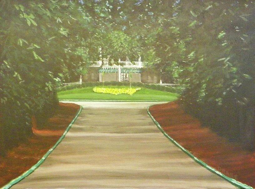 Magnolia Lane Augusta, Ga Painting by Michael Drake