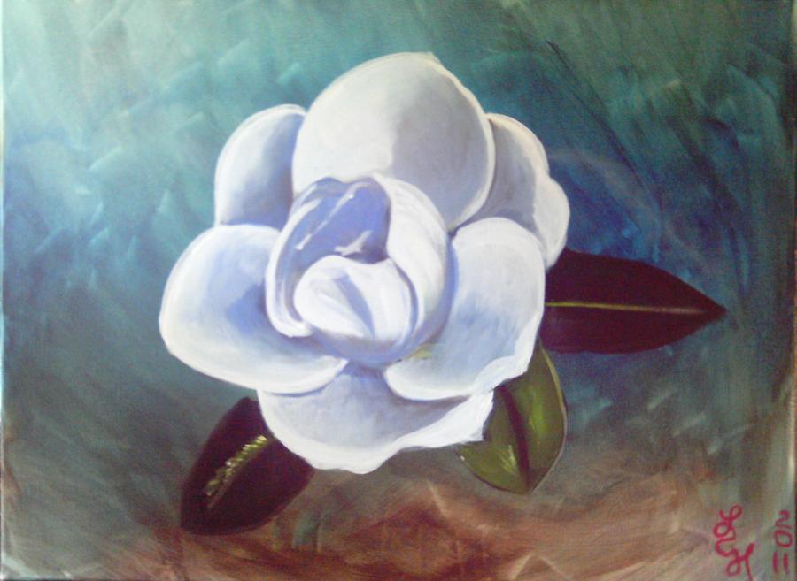 Magnolia Painting - Magnolia by Loretta Nash