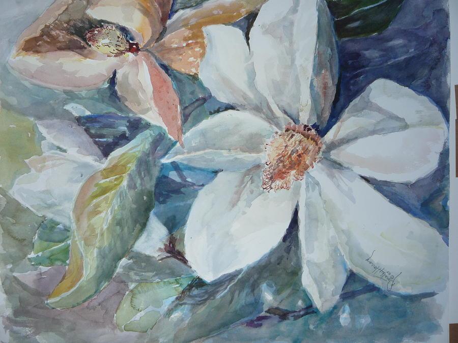 Nature Painting - Magnolia Magic by Dorothy Herron