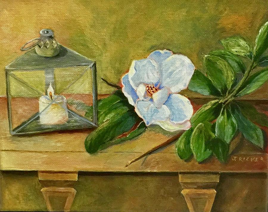 Magnolia On Mantel  by Jane Ricker