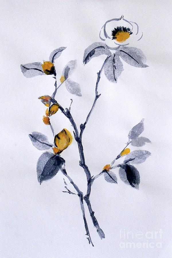 Magnolia Painting - Magnolia by Sibby S