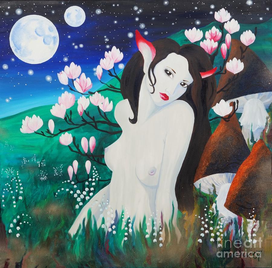 Fantasy Painting - Magnolia by Tiina Rauk
