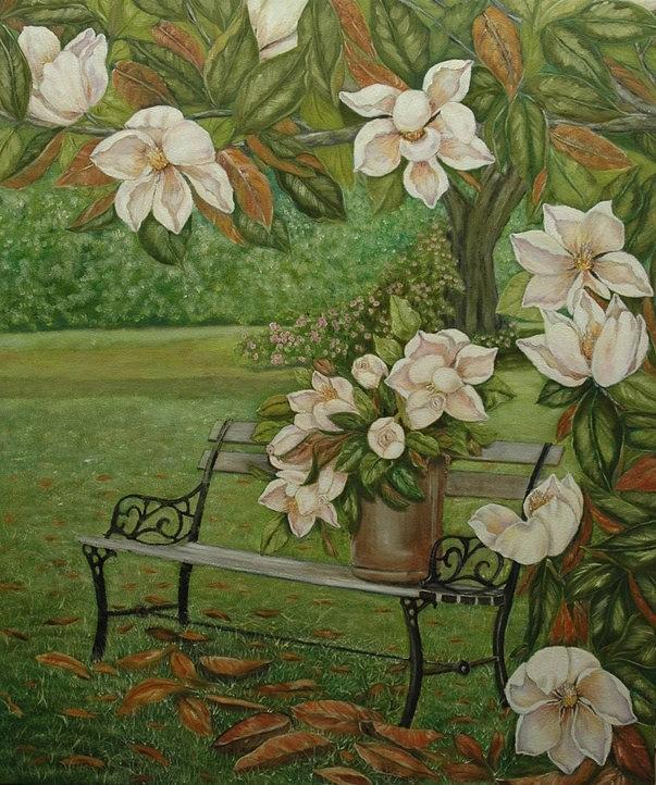 Magnolia Painting - Magnolia Tree by Tresa Crain