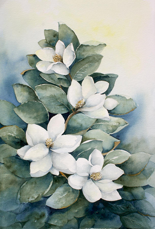 Magnolias #1 by Lael Rutherford