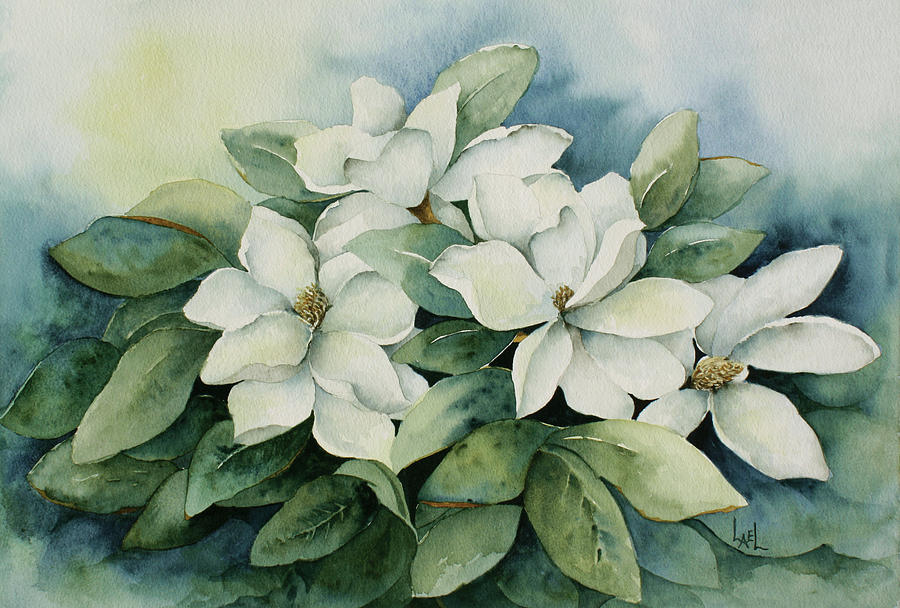 Magnolias #2 by Lael Rutherford