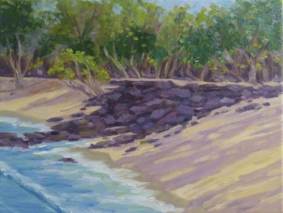 Magoon's Beach Rocks by Stan Chraminski