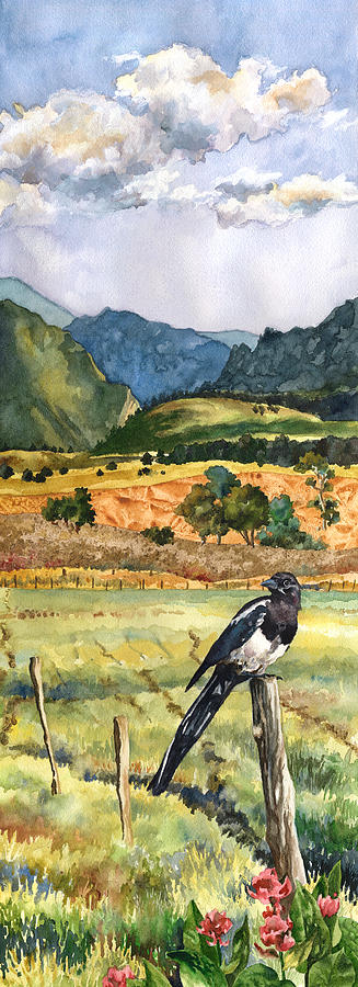 Magpie Painting Painting - Magpie by Anne Gifford