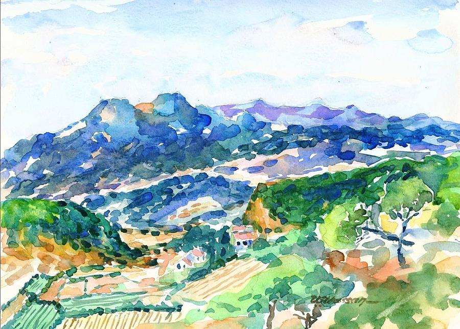 Landscape Painting - Mahabeleshwar Valley India by Ujjagar Singh Wassan