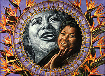Singer Painting - Mahalia Songbird of Paradise  by Buena Johnson