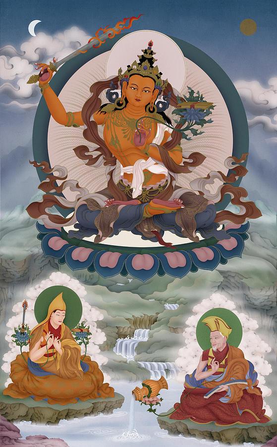Tibetan Digital Art - Mahamudra by Ben Christian