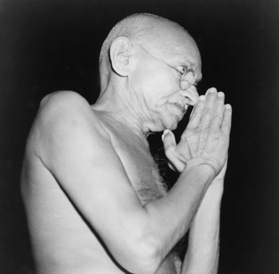History Photograph - Mahatma Gandhi 1869-1948 In 1946 by Everett
