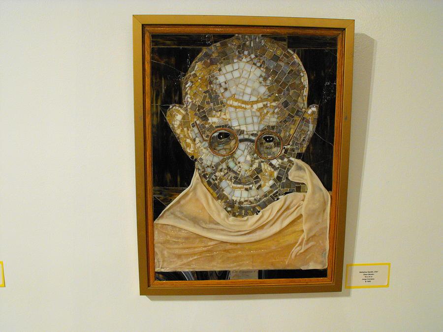 Mahatma Gandhi Painting - Mahatma Gandhi-2007 by Maria Carrasco