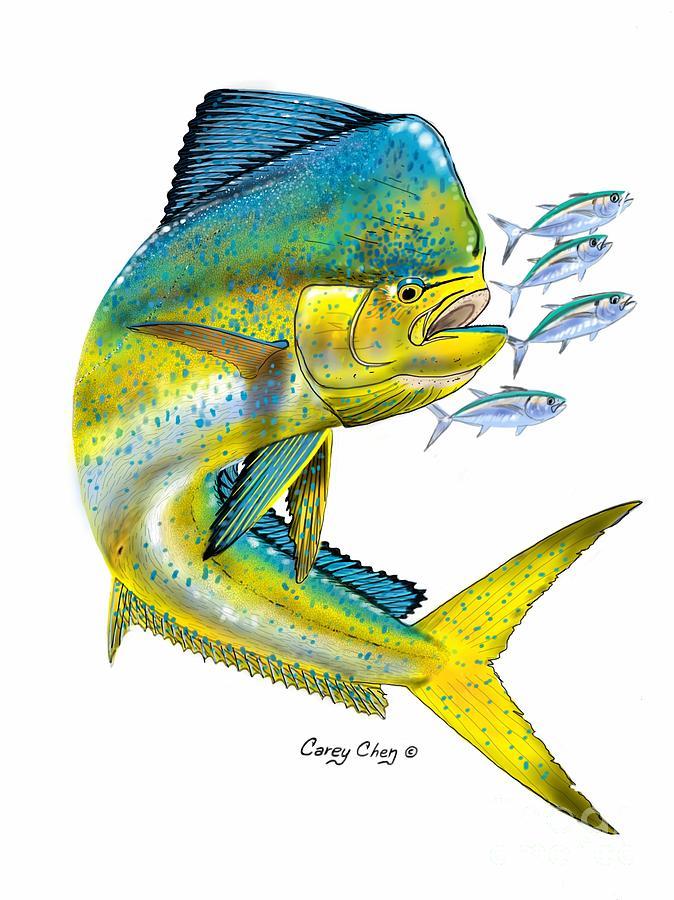 Mahi digital digital art by carey chen for Sport fishing near me