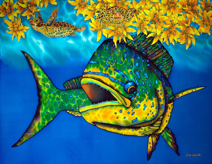 mahi mahi fish dorado fish painting daniel jean baptiste