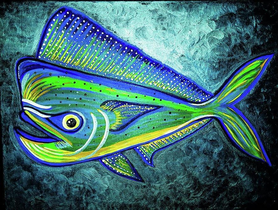 Blue Mahi Mahi Painting