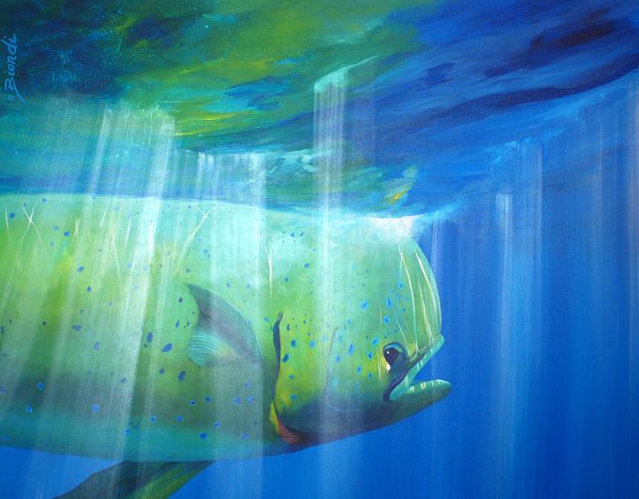 Mahi Painting - Mahi Mahi by Janet Biondi