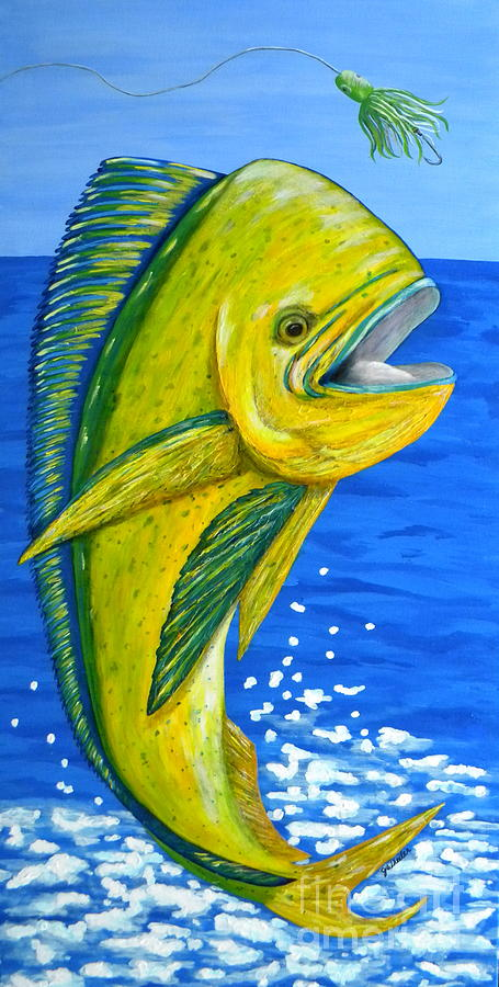 Fish Painting - Mahi Mahi by JoAnn Wheeler