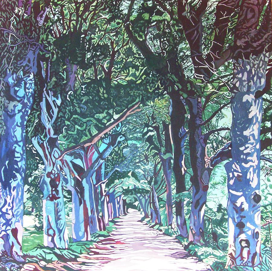 Mahogany Avenue Painting by Valentine Magutsa