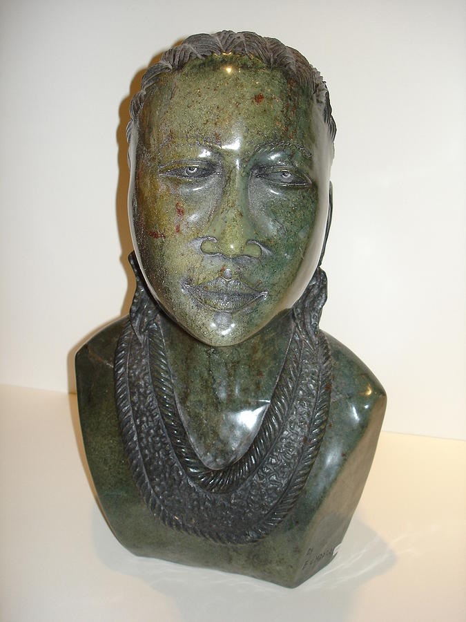 Shona Sculpture - Maiden by Edward Ndoro