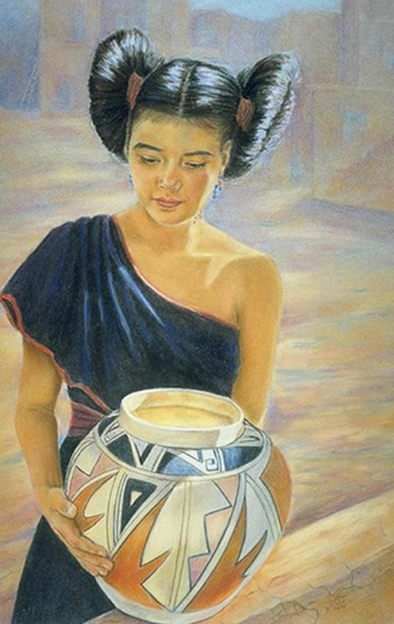 Indians Painting - Maiden Of The Mesa by Ann Peck