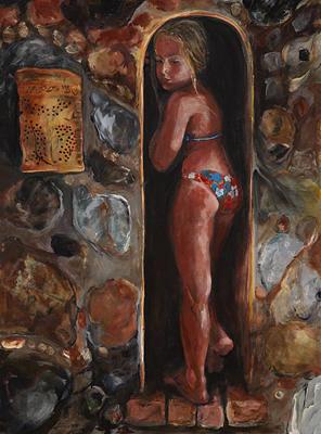 Girl Painting - Maidens Niche by Michelle Winnie