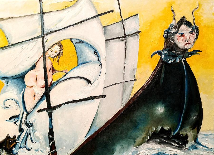 Original Painting - Maidens Voyage by Jacabo Navarro