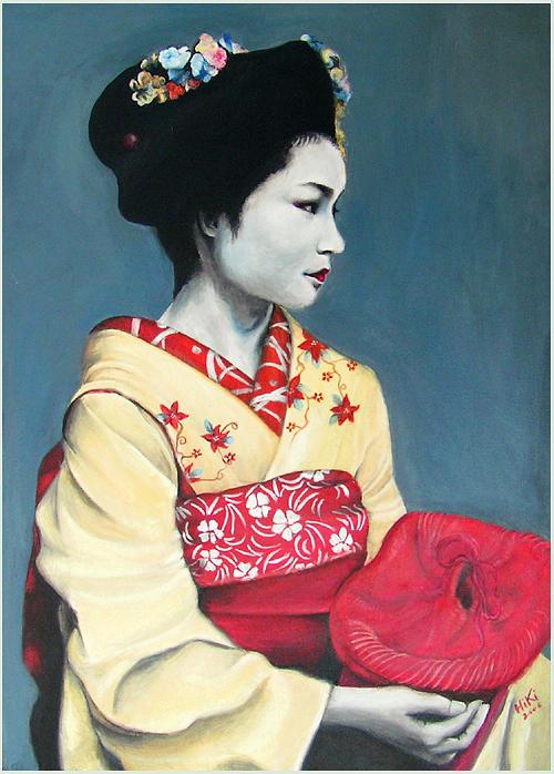 Japan Painting - Maiko by Pia HiKi