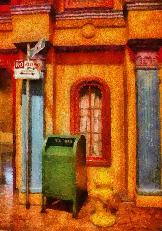 Savad Photograph - Mailman - No Parking by Mike Savad