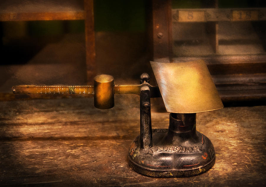 Hdr Photograph - Mailman - The Mail Scale by Mike Savad