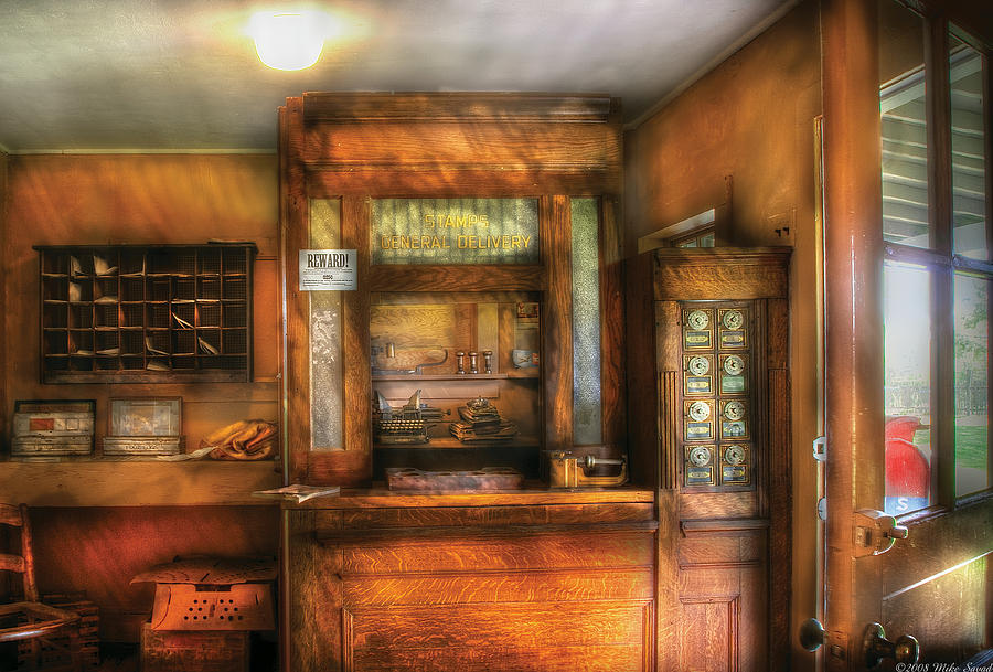 Savad Photograph - Mailman - The Post Office by Mike Savad
