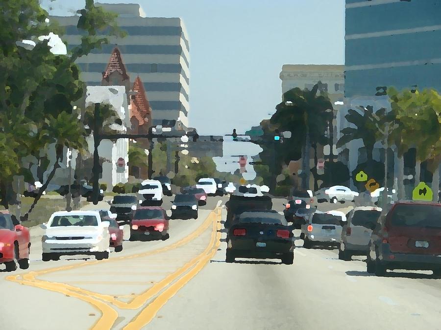 Cars Painting - Main Avenue by Kimberly Camacho