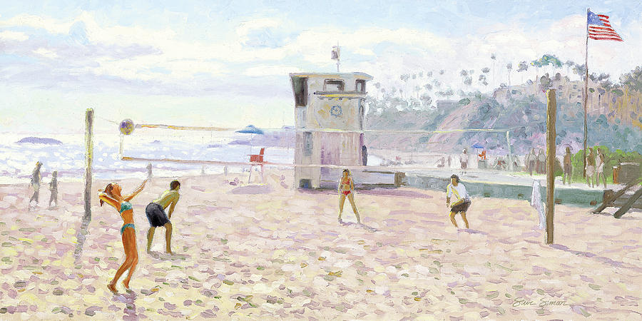 Main Beach Volleyball by Steve Simon