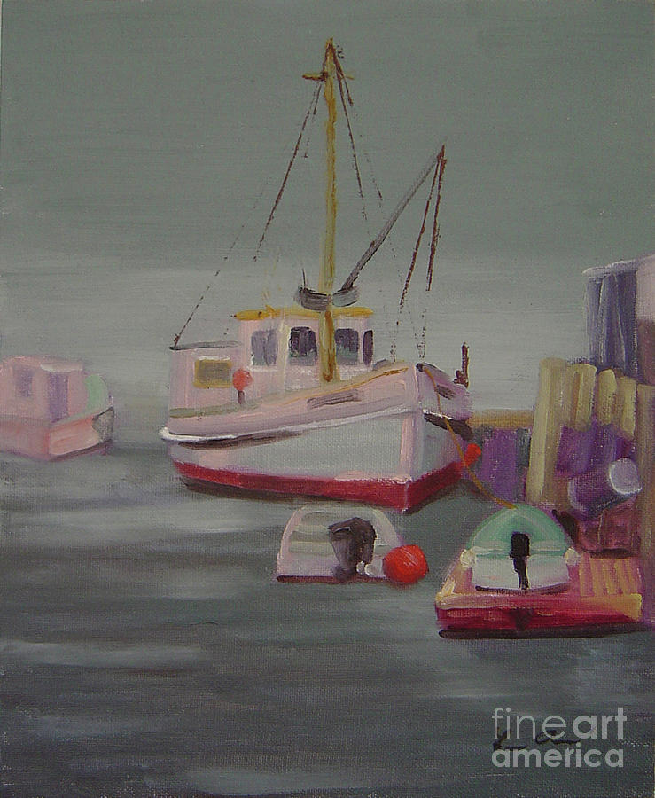 Maine Painting - Main Boat 1 by Lilibeth Andre