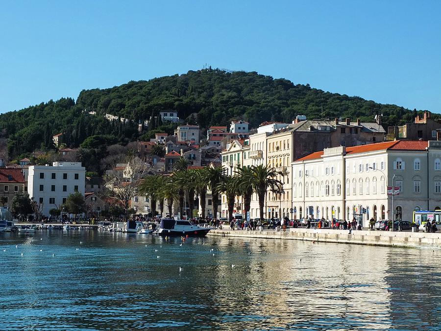 Split Photograph - Main Embankment Of Split City Croatia by Olga Kurygina